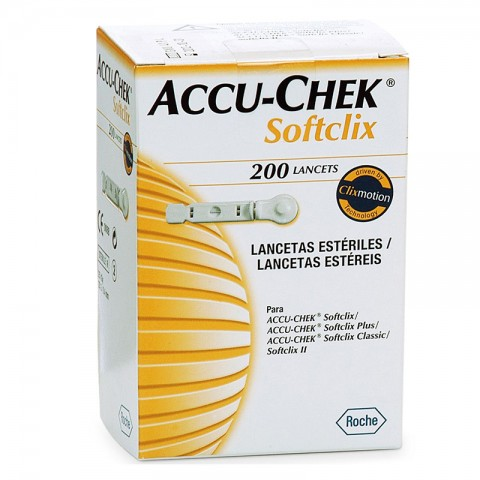 Lancetas Accu-chek Softclix Roche - c/ 200