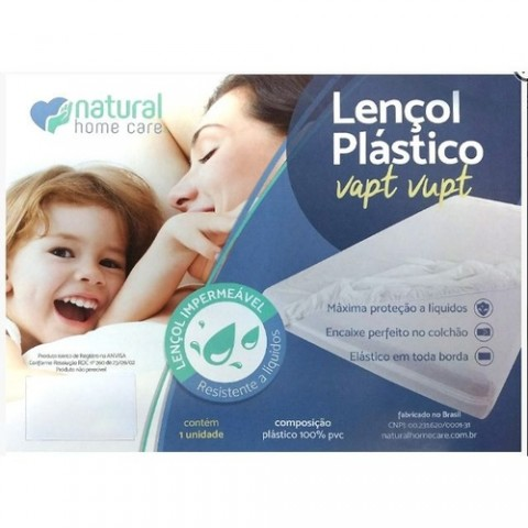 Lençol Plástico VAPT-VUPT Casal King 2,03 x 1,93 x 0,30
