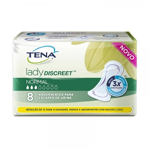 Absorvente Tena Lady Discreet Normal c/8