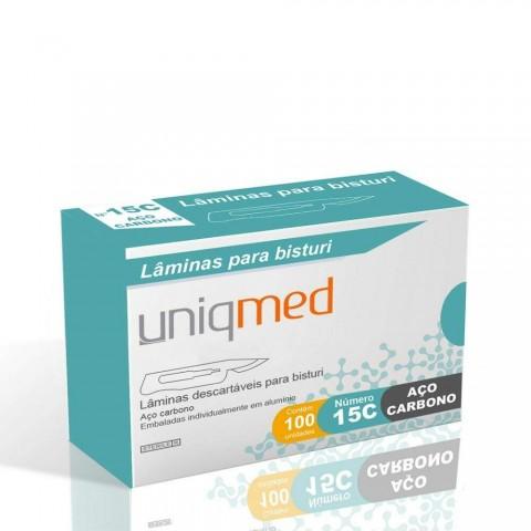 Lamina de Bisturi Aço Carbono Uniqmed c/100 Unidades