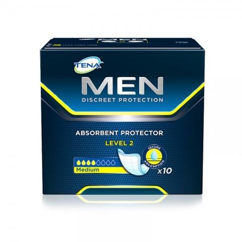 Absorvente Masculino Tena Men Level 2 c/10